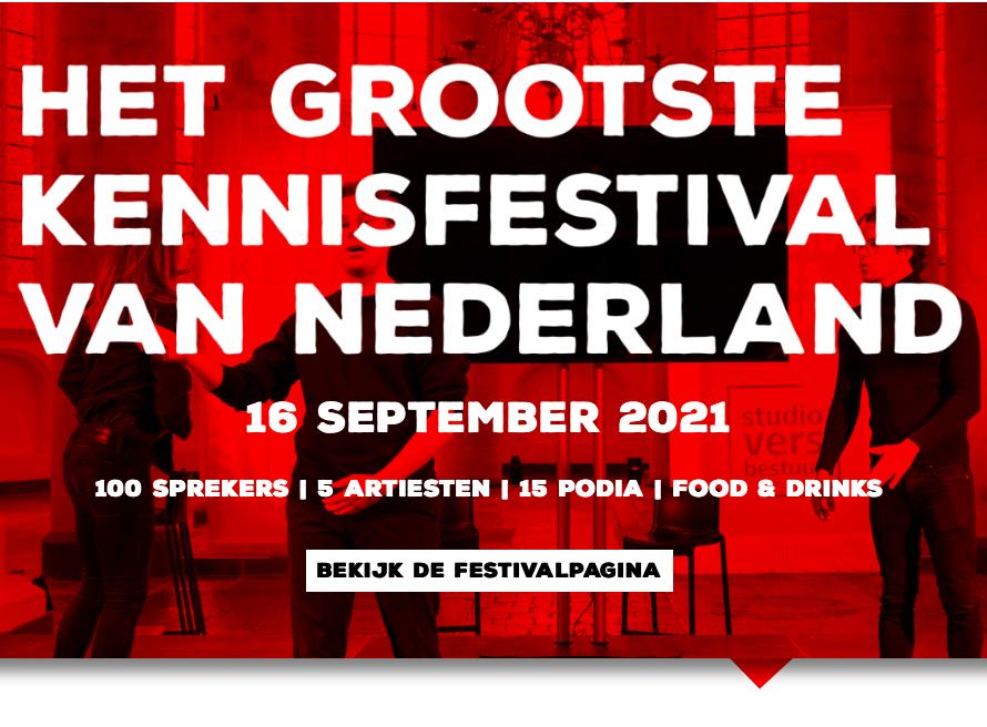 Lezing op het Grootste Kennisfestival van NL
